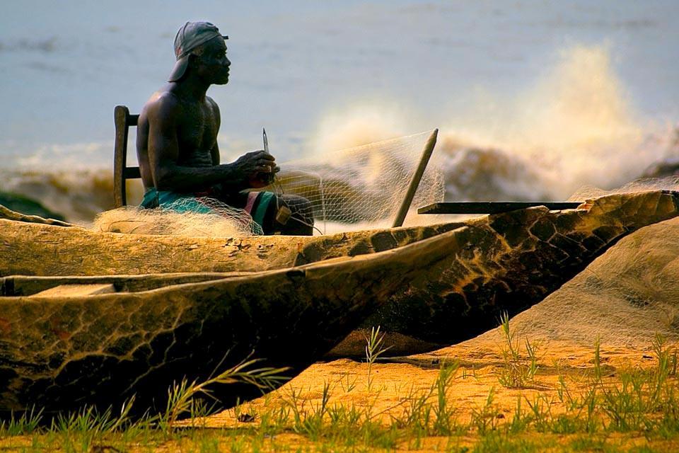 Village de pêcheurs - plage Cameroun