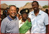 Chris Tucker and Dr Gates visit Angola