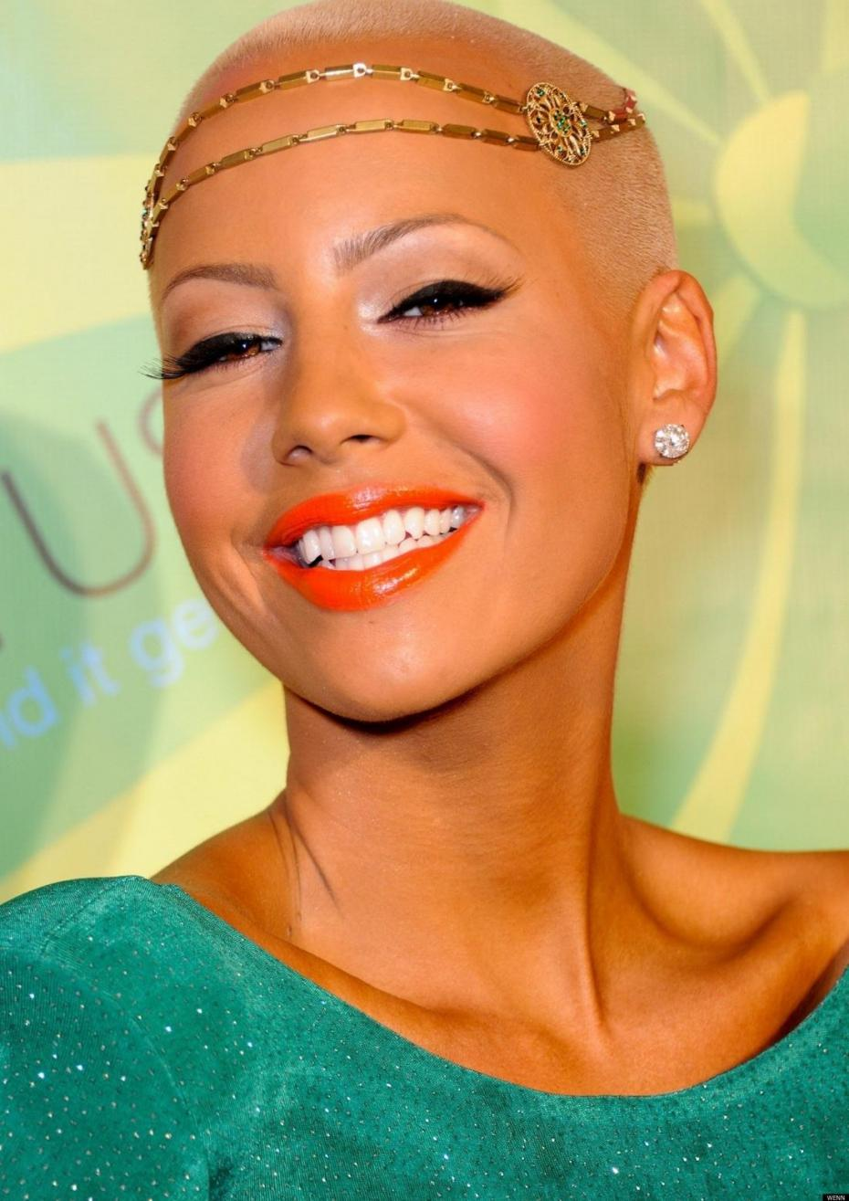 Bald Style-Amber Rose