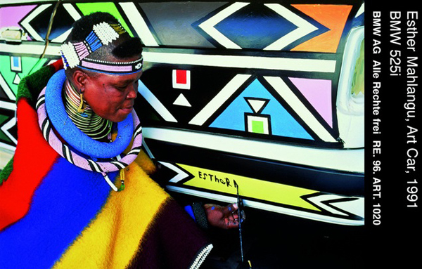 Esther Mahlangu paint BMW