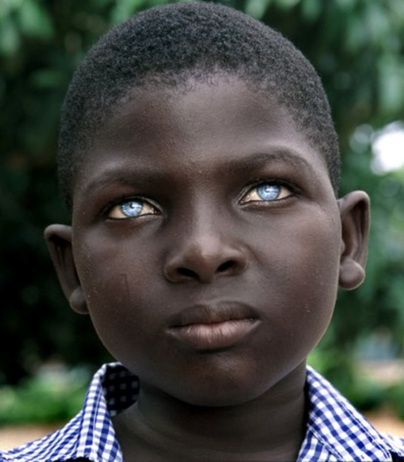 African Boy Blue Eyes