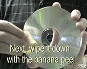 nettoyer cd dvd peau de banane