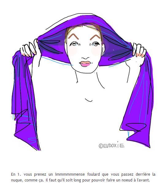 savoir nouer son foulard - forme fleur 2