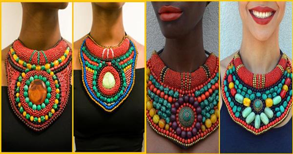 COLLIER AFRICAIN MASSAÏ – Paola Mathe « Fanm Djanm »