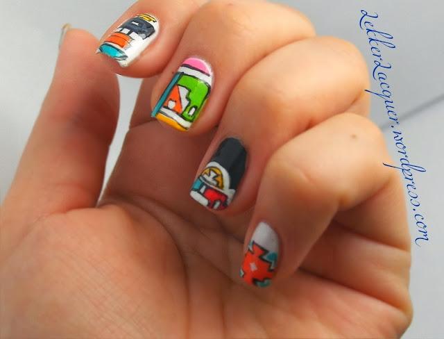 Ndebele print manicure