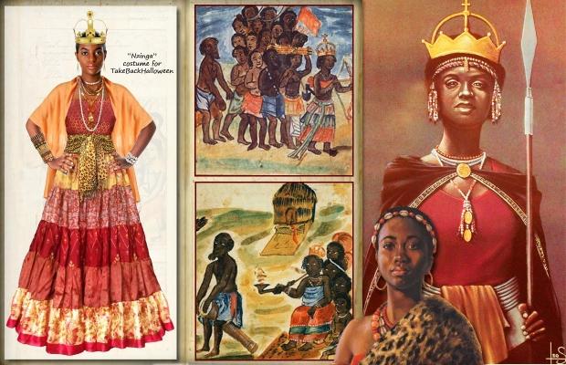 La reine Anna Zingha d'Angola