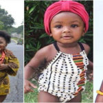 Les enfants en tenue traditionnelle africaine