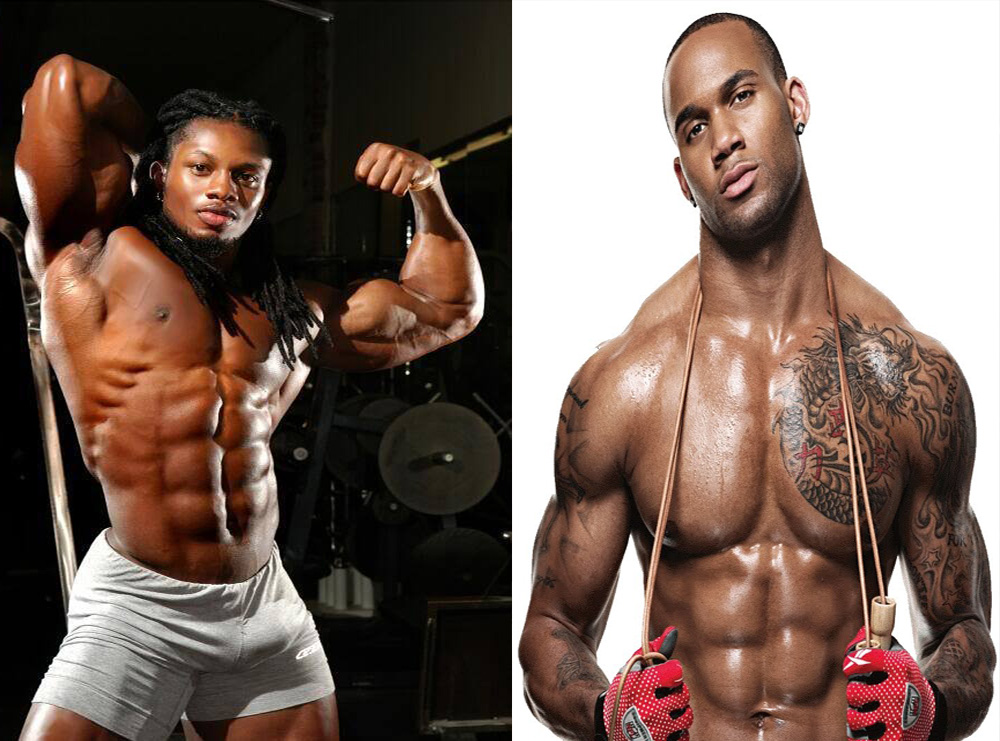 Hommes noirs musclés ,black men muscular