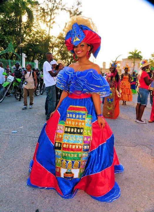 Robe de mariage haitienne