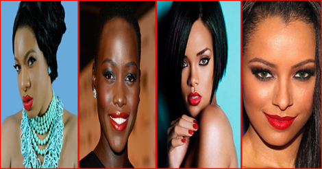Beautiful black women with red lipstick 2