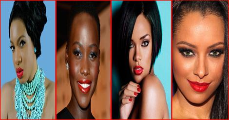 Beautiful black women with red lipstick 2