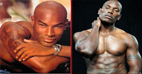 Tyrese - Tyson Beckford - coiffure chauve et sexy hommes noirs