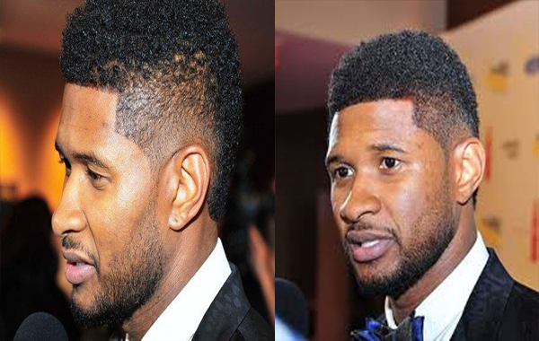 Usher Mohawk hair