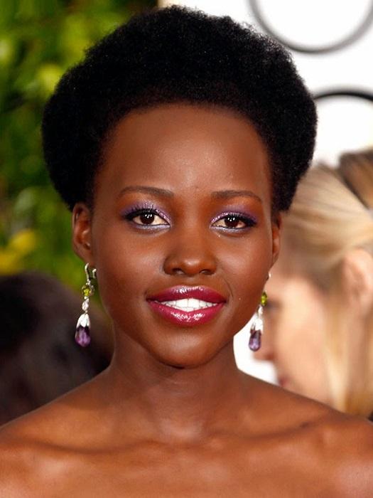 lupita-nyongo-afro-hairstyles-petite coupe afro