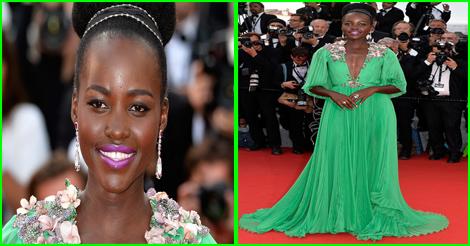 actress Lupita-Nyongo - cannes 2015