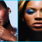 Maquillage bleu pour les yeux – peau noire & métisse