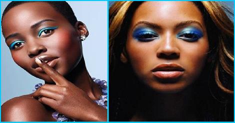 maquillage bleu -pour femme noire et métisse