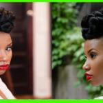 Coiffure de mariage : chic updo pour cheveux crépus