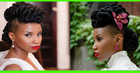 Wedding hairstyle: Natural Updo Hairstyles For Black Women ...