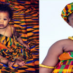 Les enfants en tenue traditionnelle kente