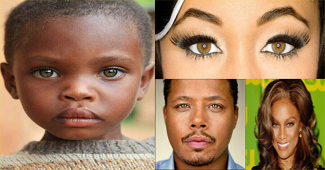 les noirs aux yeux noisettes - black people with hazel brown eyes