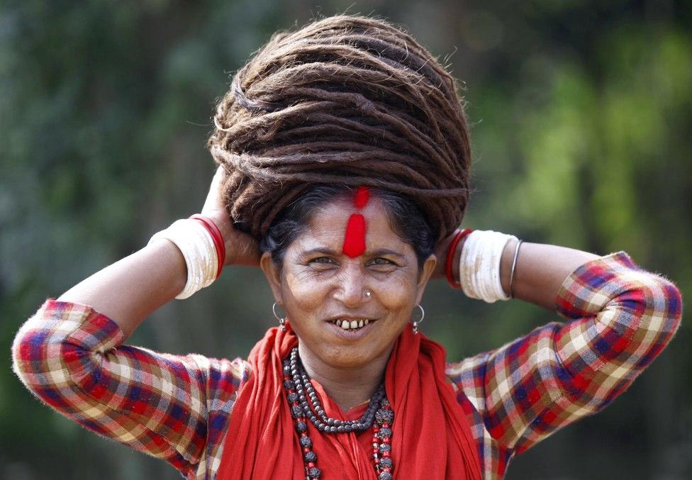 hindu ascetic -dreadloks