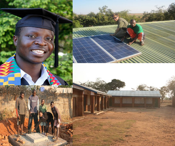 william-kamkwamba-construction panneau solaire-village-malawi