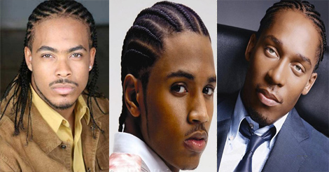 Tresses plaquées ou nattes collées –  style de coiffure pour homme