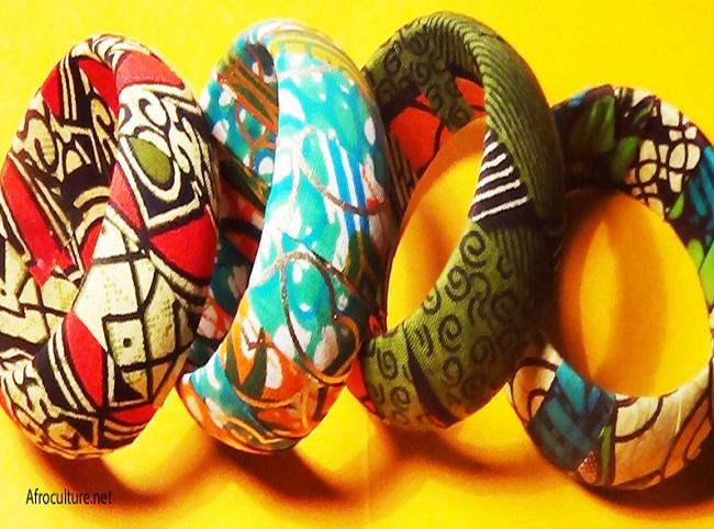bracelet en wax-bracelet africain-bijoux ethniques-bijoux africains