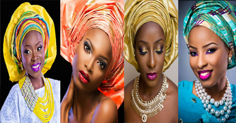 "Makeup & Gele: 12 gorgeous black women wearing ""gele"" headscarf 