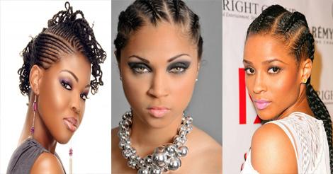 Tresses plaquées ou nattes collées – style de coiffure pour femme