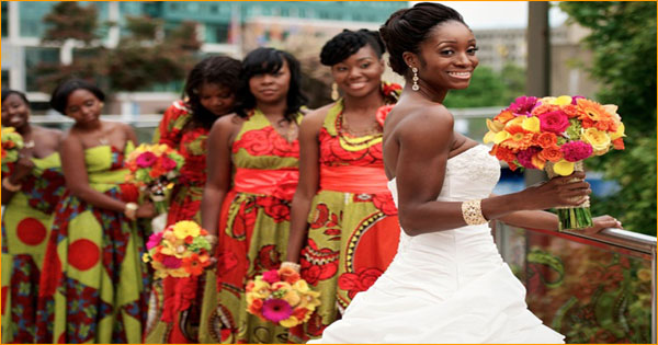 Bridesmaid Dresses For A Wedding In The Colors Of Africa