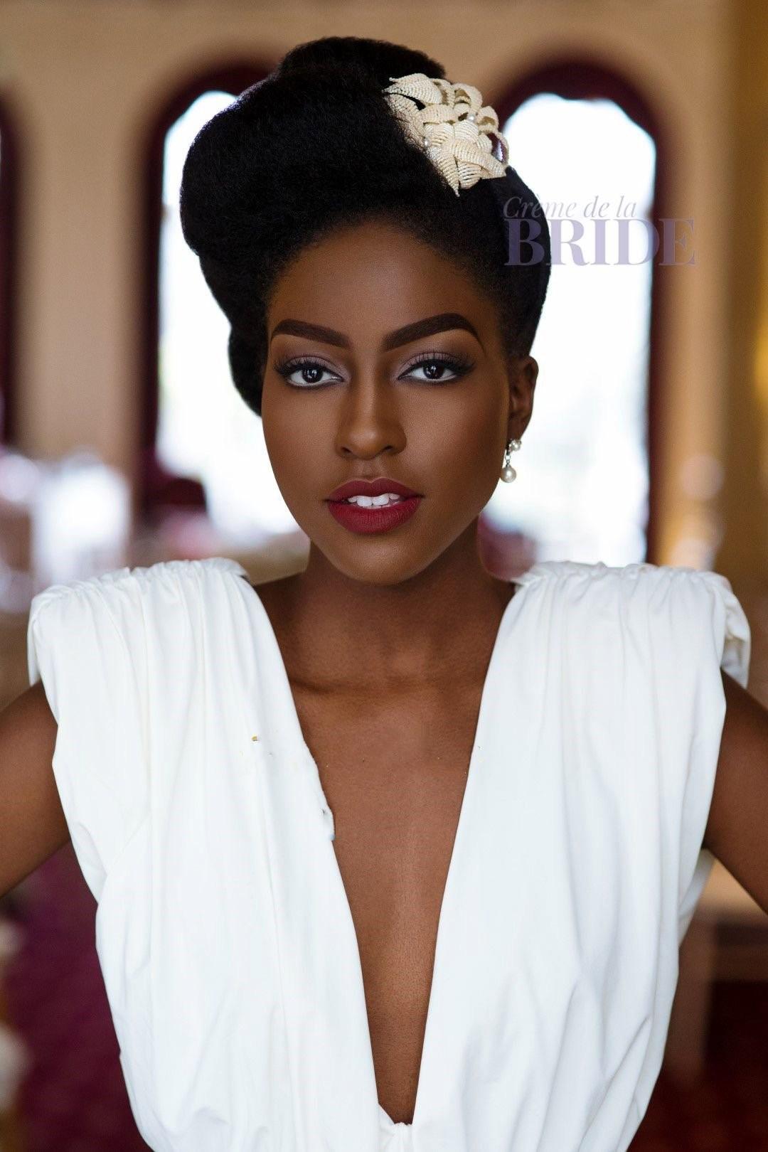 Coiffure Afro Pour Mariage pour femme noire et métisse – inspiration coiffure de mariage.