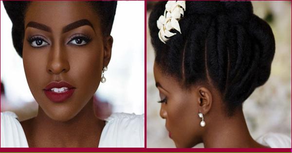 Femme noire et métisse – inspiration coiffure de mariage.