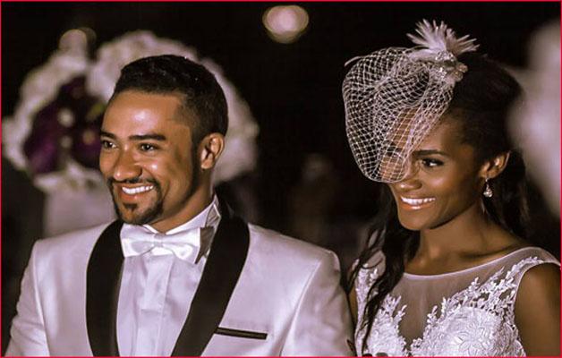 Mariage de stars : l'acteur de Ghallywood Majid Michel et sa femme Virna Michel renouvellent leurs vœux.
