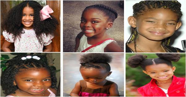 10 coiffures pour petites filles noires et métisses.