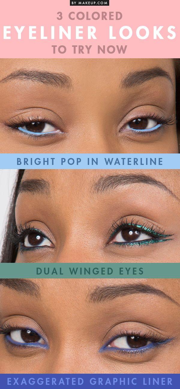 eyeliner coloré femme noire et métisse