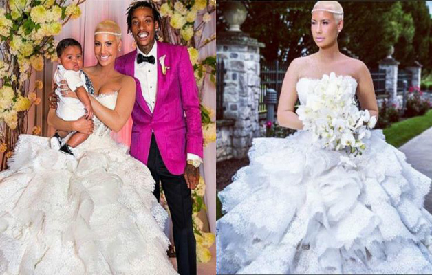 Mariage Amber Rose Et Wiz Khalifa Mariée En Cheveux Courts