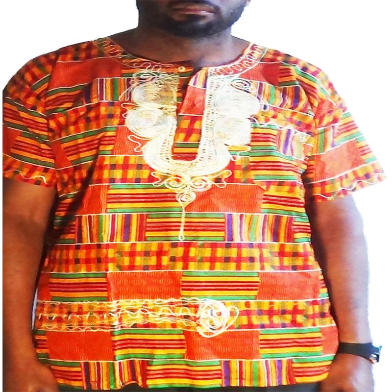 t-shirt-kente-orange