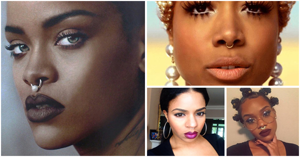 Tendance mode : porter un piercing au septum – Black Beauty.