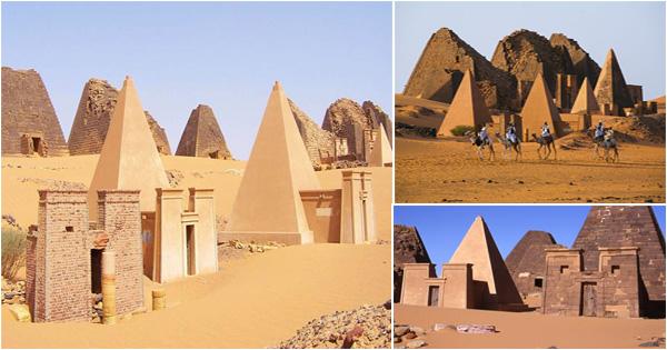 les pyramides de Méroé - soudan - pharaon noir