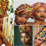 Foulard en Kente : 10 façons originales de porter un foulard.