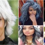 Tendance cheveux gris – femme noire et métisse.