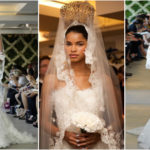 Daiane Sodre in wedding dress Oscar de la Renta