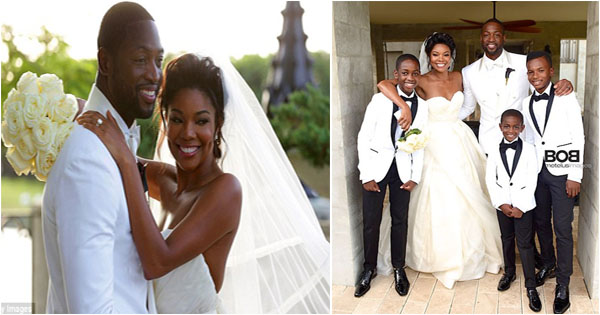 Celebrity wedding gabrielle union dwyane wade junglespirit Gallery
