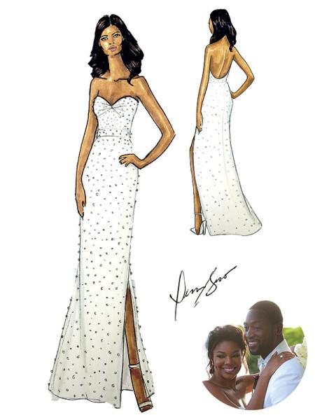 Mariage de stars gabrielle union dwayne wade for Code de robe de mariage de palais de justice