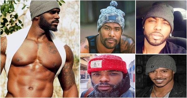 Hommes Noirs Sexy 10 hommes noirs et métis virils et sexy avec un bonnet