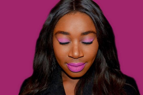 maquillage-rose-femme-noire