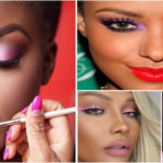 Beautiful Pink eye makeup for Black Women