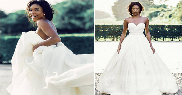 Gabrielle union wedding dress brides junglespirit Choice Image